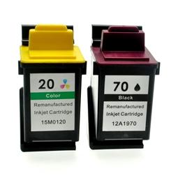 Logic-Seek 2 Tintenpatronen kompatibel zu Lexmark 70 20 XL
