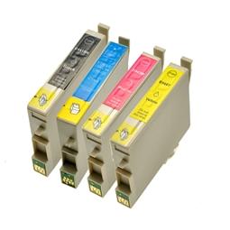 Logic-Seek 4 Tintenpatronen kompatibel zu Epson T0441-T0444 Stylus C64 XL