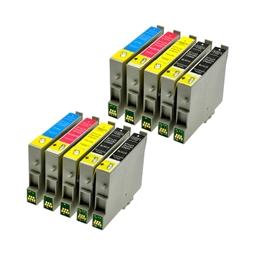 Logic-Seek 10 Tintenpatronen kompatibel zu Epson T0441-T0444 Stylus C64 XL