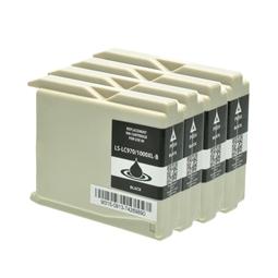 Logic-Seek 4 Tintenpatronen kompatibel zu Brother LC-1000BK XL Schwarz
