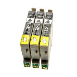 Logic-Seek 3 Tintenpatronen kompatibel zu Epson Stylus D68 T0611 C13T06114010 XL Schwarz