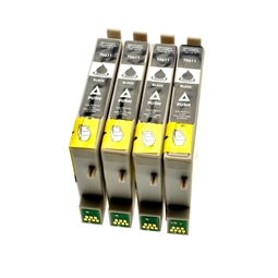 Logic-Seek 4 Tintenpatronen kompatibel zu Epson Stylus D68 T0611 C13T06114010 XL Schwarz