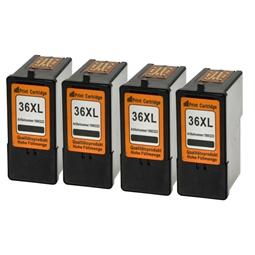 Logic-Seek 4 Tintenpatronen kompatibel zu Lexmark 36XLA 18C2190E XL Schwarz