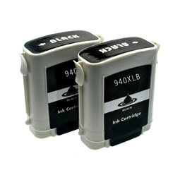 Logic-Seek 2 Tintenpatronen kompatibel zu HP 940XL C4906AE XL Schwarz