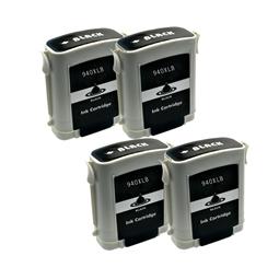 Logic-Seek 4 Tintenpatronen kompatibel zu HP 940XL C4906AE XL Schwarz