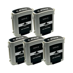 Logic-Seek 5 Tintenpatronen kompatibel zu HP 940XL C4906AE XL Schwarz