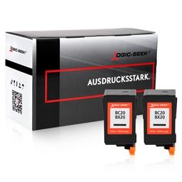 Logic-Seek 2 Tintenpatronen kompatibel zu Canon BC-20BK BX-20 0895A002 XL Schwarz