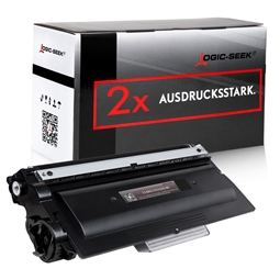 Logic-Seek 2 Toner kompatibel zu Brother TN-3380 HC Schwarz