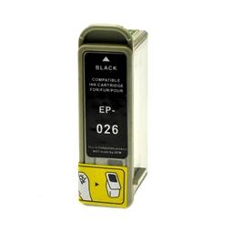 Logic-Seek  Tintenpatrone kompatibel zu Epson Stylus 810 T026 C13T02640110 XL Schwarz