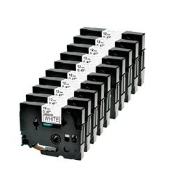 Logic-Seek 10x Schriftband kompatibel zu Brother TZE-231, Schwarz auf Weiss, 12mm x 8m