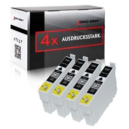 Logic-Seek 4 Tintenpatronen kompatibel zu Epson Stylus XP205 18XL C13T18114010 XL Schwarz