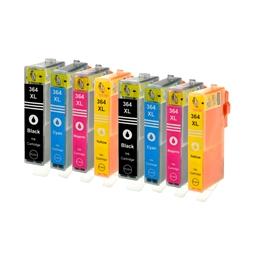 Logic-Seek 8 Tintenpatronen kompatibel zu HP 364 XL