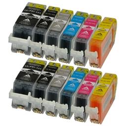 Logic-Seek 12 Tintenpatronen kompatibel zu Canon PGI-525 CLI-526 XL
