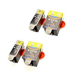 Logic-Seek 4 Tintenpatronen kompatibel zu Samsung C210 M215 XL