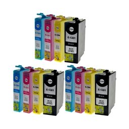 Logic-Seek 12 Tintenpatronen kompatibel zu Epson T1301-T1304 XL