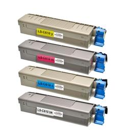 Logic-Seek 4 Toner kompatibel zu OKI C610 HC
