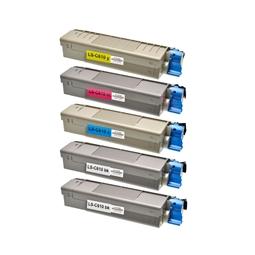 Logic-Seek 5 Toner kompatibel zu OKI C610 HC