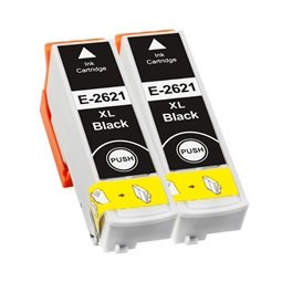 Logic-Seek 2 Tintenpatronen kompatibel zu Epson Stylus XP600 26XL C13T26214010 XL Schwarz