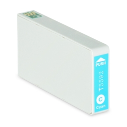 Logic-Seek  Tintenpatrone kompatibel zu Epson Stylus RX700 T5592 C13T55924010 XL Cyan