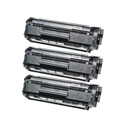 Logic-Seek 3 Toner kompatibel zu HP 12A Q2612A HC Schwarz