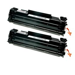 Logic-Seek 2 Toner kompatibel zu HP 35A CB435A HC Schwarz