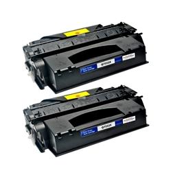 Logic-Seek 2 Toner kompatibel zu HP 53X Q7553X HC Schwarz