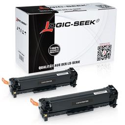 Logic-Seek 2 Toner kompatibel zu HP 305X CE410X HC Schwarz