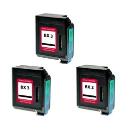 Logic-Seek 3 Tintenpatronen kompatibel zu Canon BX-3 0884A002 XL Schwarz