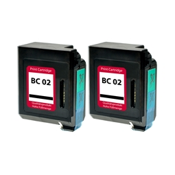 Logic-Seek 2 Tintenpatronen kompatibel zu Canon BC-02 0881A002 XL Schwarz