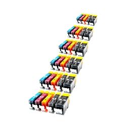 Logic-Seek 30 Tintenpatronen kompatibel zu Canon PGI-520 CLI-521 XL