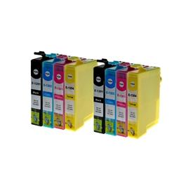Logic-Seek 8 Tintenpatronen kompatibel zu Epson T1291-T1294 XL