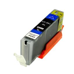 Logic-Seek  Tintenpatrone kompatibel zu Canon CLI-551BKXL 6443B001 XL Schwarz