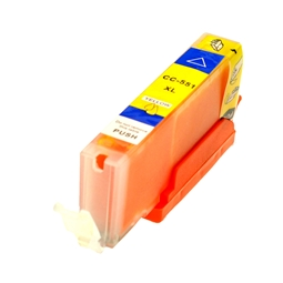 Logic-Seek  Tintenpatrone kompatibel zu Canon CLI-551YXL 6446B001 XL Yellow