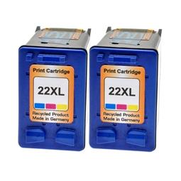 Logic-Seek 2 Tintenpatronen kompatibel zu HP 22 C9352AE XL Color