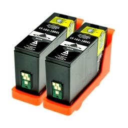 Logic-Seek 2 Tintenpatronen kompatibel zu Lexmark 150XLA 14N1636 XL Schwarz