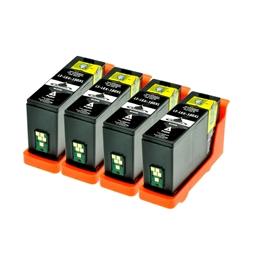 Logic-Seek 4 Tintenpatronen kompatibel zu Lexmark 150XLA 14N1636 XL Schwarz