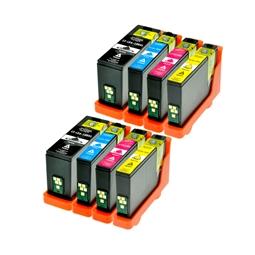 Logic-Seek 8 Tintenpatronen kompatibel zu Lexmark 150XLA XL