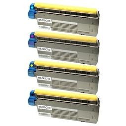 Logic-Seek 4 Toner kompatibel zu OKI C710 HC
