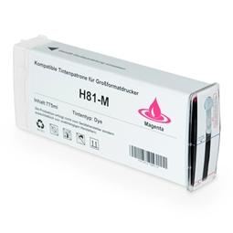 Logic-Seek  Tintenpatrone kompatibel zu HP 81 C4932A XL Magenta