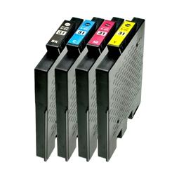 Logic-Seek 4 Tintenpatronen kompatibel zu Ricoh GC-31 XL