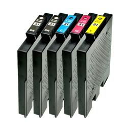 Logic-Seek 5 Tintenpatronen kompatibel zu Ricoh GC-31 XL