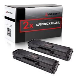 Logic-Seek 2 Toner kompatibel zu Samsung M2020 MLT-D111S/ELS HC Schwarz