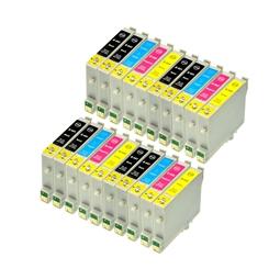Logic-Seek 20 Tintenpatronen kompatibel zu Epson T0441-T0444 Stylus C64 XL