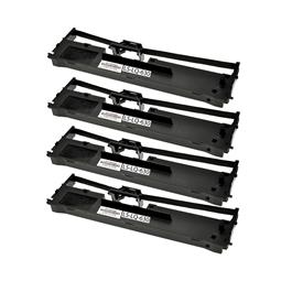 Logic-Seek 4 Farbbänder kompatibel zu Epson LQ 630 C13S015307 Schwarz