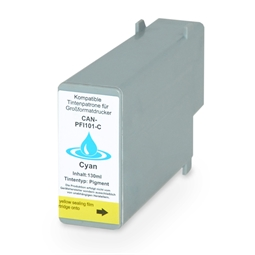 Logic-Seek  Tintenpatrone kompatibel zu Canon PFI-101C 0884B001 XL Cyan