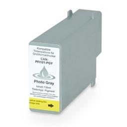 Logic-Seek  Tintenpatrone kompatibel zu Canon PFI-101PGY 0893B001 XL Light Grau