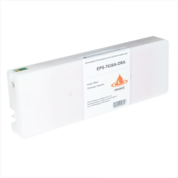 Logic-Seek  Tintenpatrone kompatibel zu Epson Pro 7900 9900 T636A C13T636A00 XL Orange
