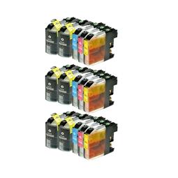 Logic-Seek 15 Tintenpatronen kompatibel zu Brother LC-125 LC-127 XL