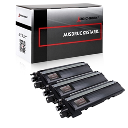 Logic-Seek 3 Toner kompatibel zu Brother TN-230BK HC Schwarz