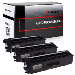 Logic-Seek 3 Toner kompatibel zu Brother TN-325BK HC Schwarz